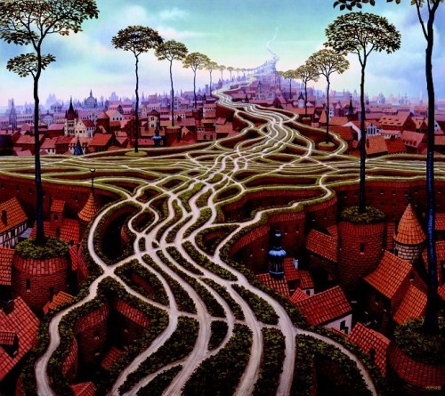 Surreal paintings of Jacek Yerka