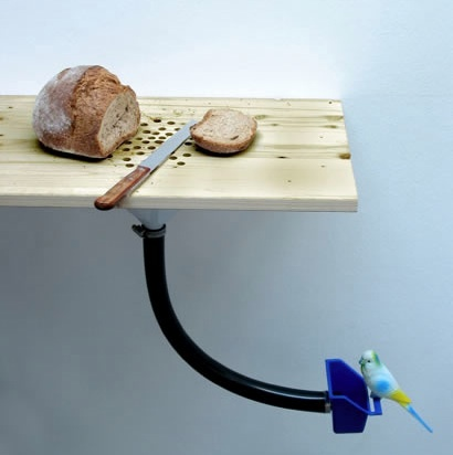 Cutting-board / bird-feeder by Curro Claret