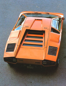 Orange Lamborghini Countach LP400