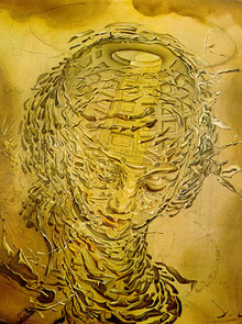 Raphaelesque Head Exploding, 1951 by Salvador Dali