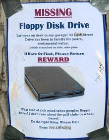 Rants: An Unhealthy Attachment To A Floppy Disk Drive? | Burbia.
