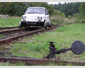 Car on the tracks